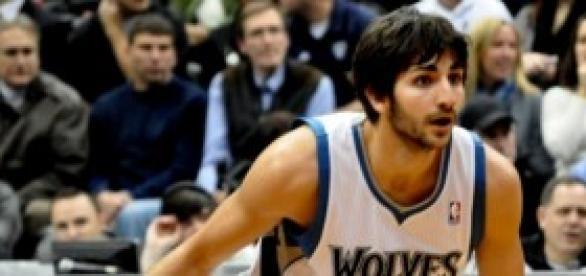 Ricky Rubio jugando con los Timberwolves.