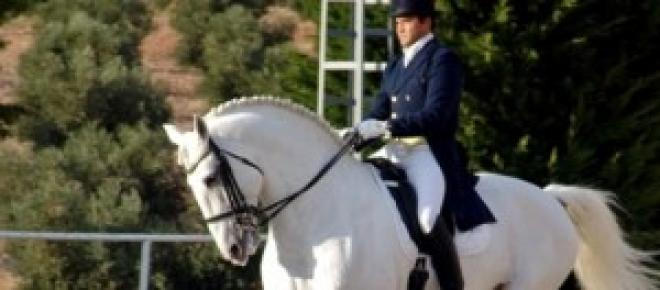 La doma clásica de caballo.