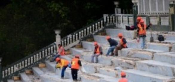 Trabajos de remodelación del Estadio Xalapeño