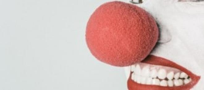 Le nez rouge d'un Clown - Image libre de droit