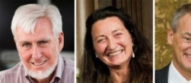 Gli scienziati J.O'Keefe, May-Britt e Edvard Moser