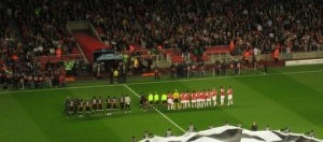 football match with Arsenal