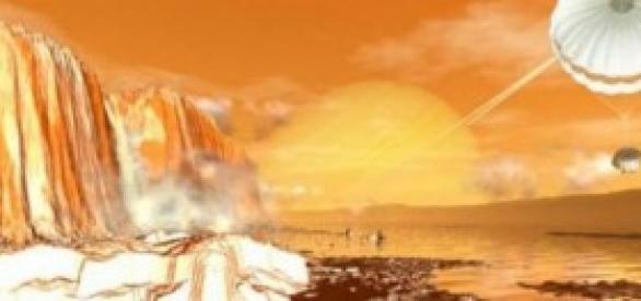Lagos de hidrocarburo en la luna Titán de Saturno