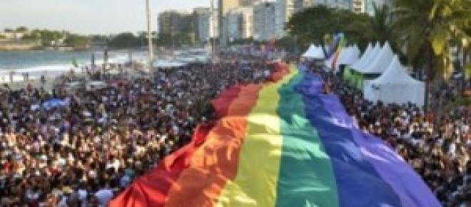 Parada LGBT, em Copacabana (Divulgação)