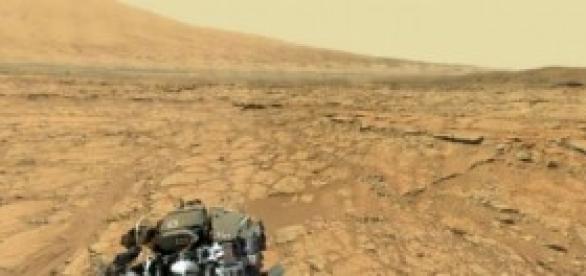 Paisaje de Marte captado por el Rover Curiosity
