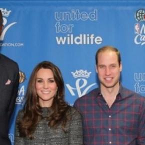 Kate Middleton y Principe Guillermo en la NBA.