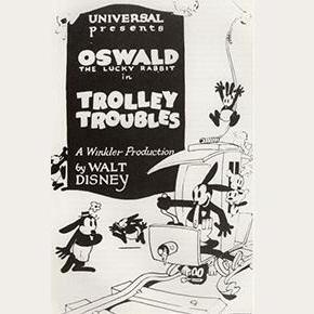 Oswald le lapin chanceux, dans «Trolley Troubles»