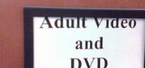 Adult video and DVD  sign