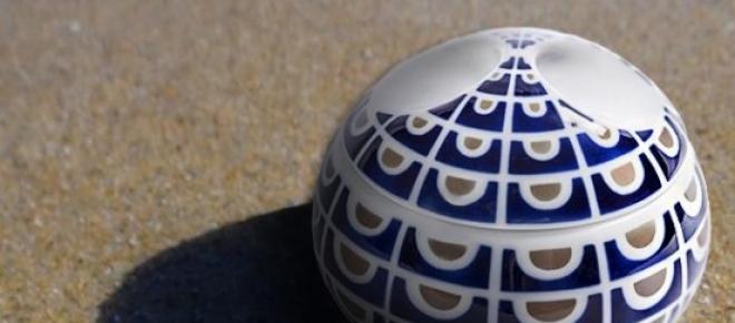 Joyero esférico de la nueva colección Sargadelos
