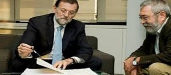 Presidente del Gobierno y Secretario sindical