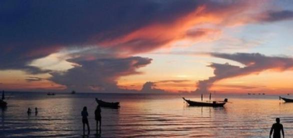 Koh Tao island sunset in Thailand