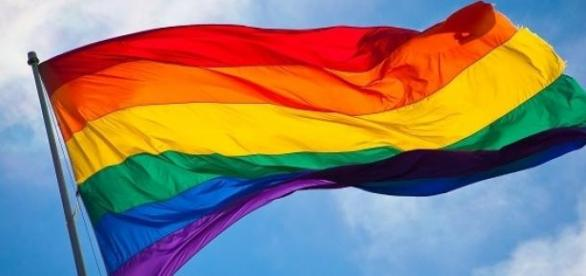 LGBT community rainbow flag