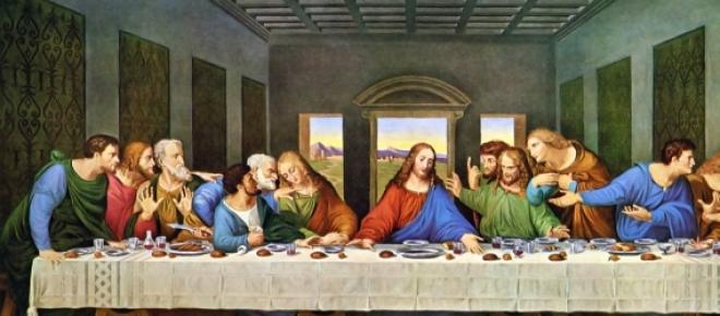 Uma das pinturas mais famosas, a Última Ceia