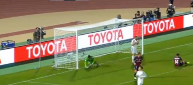 Momento entre el Real Madrid y San Lorenzo