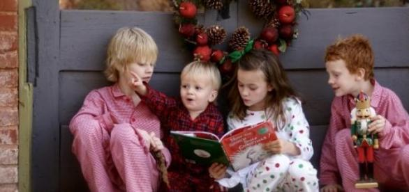 A group of Children reading