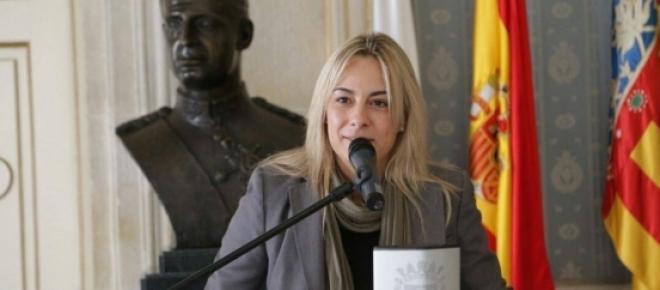 Castedo en uno de sus últimos actos como alcaldesa