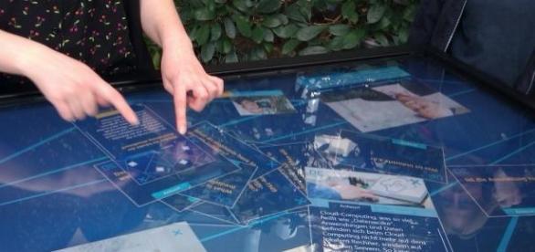 Uso de los dedos índices en una touchscreen