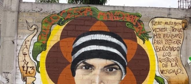 Julio Cesar Mondrágon, uno de los jóvenes asesinados por el Estado en los hechos del 26 de septiembre del 2014 y a quien se le torturó quitando la piel de su rostro de la manera más brutal que pueda imaginarse.