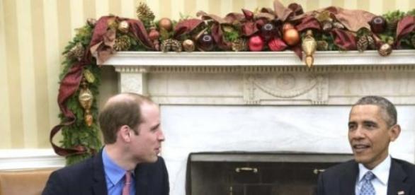 Barack Obama y Guillermo en el Despacho Oval.