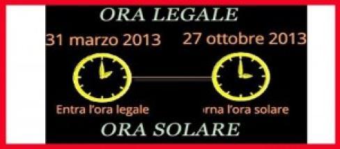 Ora legale e solare, quando perchè