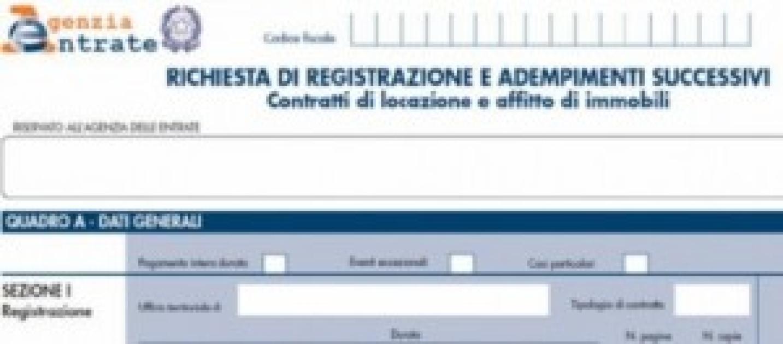Contratti locazione il modello rli chiamato alla prima for F24 elide prima registrazione