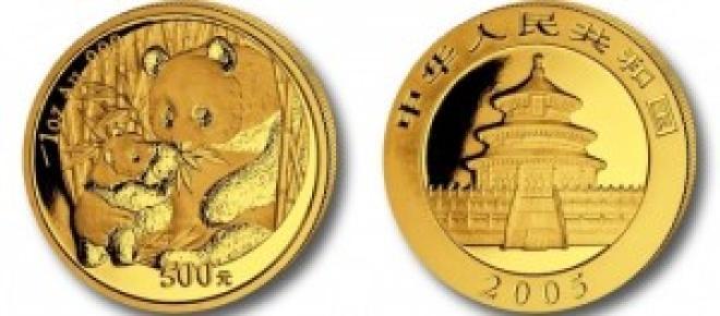 Monedas de оrо Chinas 1 oz