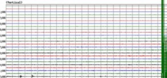Seismic graph of July 11th Quake