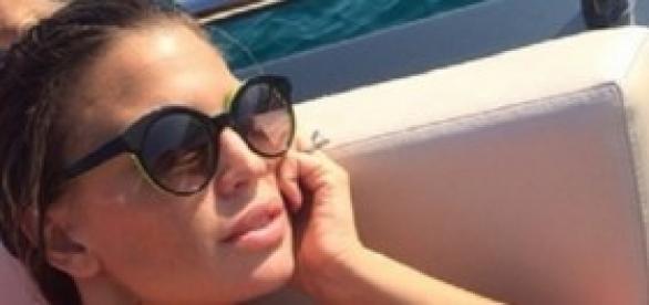 La modella e showgirl Claudia Galanti