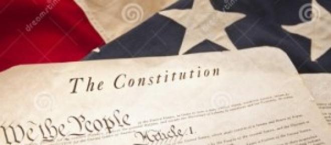 Primera página de la Constitución de los EEUU
