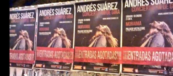 Andrés Suárez, entradas agotadas en Madrid.