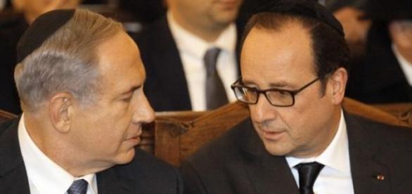 Hollande et Netanyahou se sont recueillis ensemble
