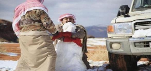 La neige en Arabie Saoudite.
