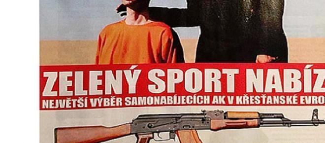 Foto de un ejecutado en un anuncio de Zeleny Sport