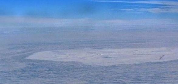 El cráter tiene dos kilómetros de diámetro