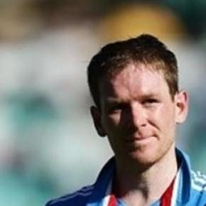 England Captain Eoin Morgan hit his first century