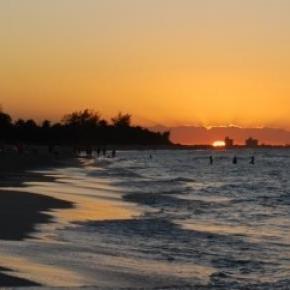 Sunset at a beach of Varadero, Cuba
