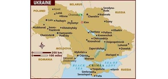 Ukraine. Donetsk, Luhansk, Mariupol in south-east
