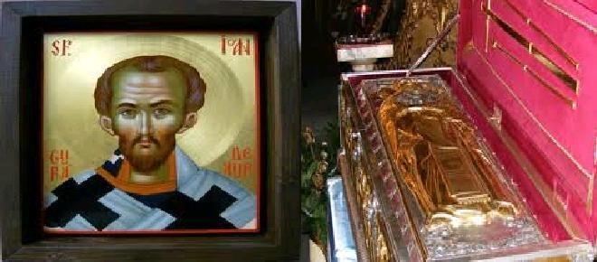 Sfanta icoana si Sfintele moaste ale Sfantului IOAN GURA DE AUR