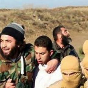 Jordanian Pilot, M. al-Kaseasbeh, being captured