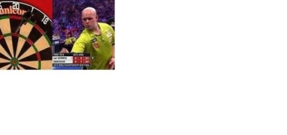 Van Gerwen crashed out to Gary Anderson