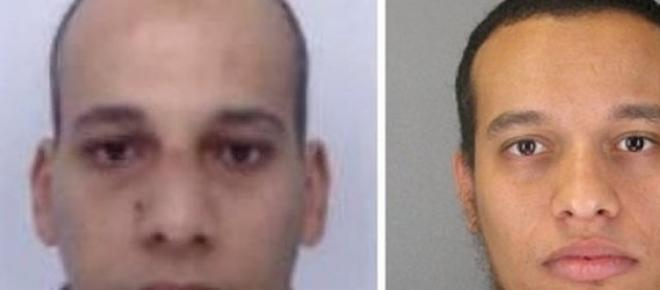 Suspects in the Charlie Hebda shooting, Cherif and Said Kouachi.