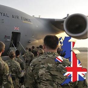 Trupele militare britanice pleacă într-o misiune