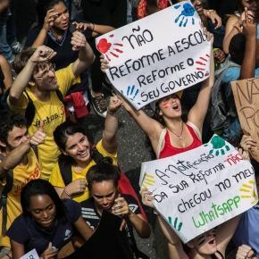 Foto: Mídia NINJA - Protesto dos alunos.