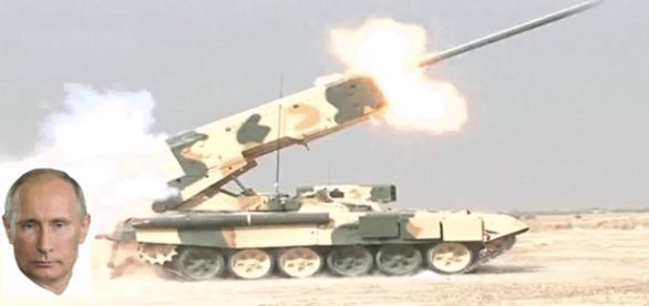 Putin trimite lansatorul de rachete TOS-1 în Siria
