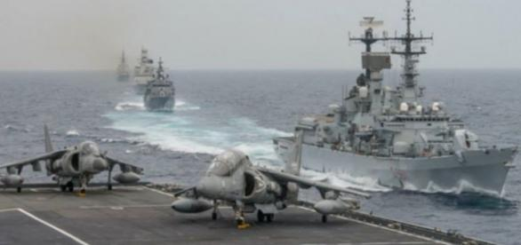 NATO shows his muscles in the Mediterranean