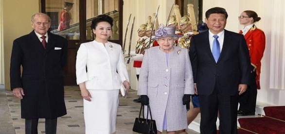 Chinese President Xi Jinping at Buckingham Palace.