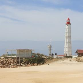 Lighthouse of Farol on Culhatra Island