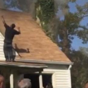 A incendiat acoperisul casei, apoi a dansat