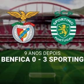 Os leões venceram o Benfica por 3-0.