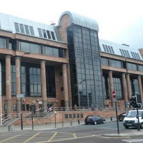 Tribunalul din Newcastle unde are loc procesul